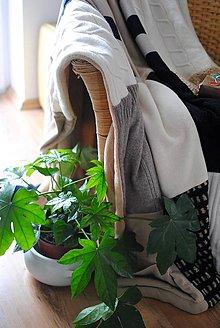 Úžitkový textil - Béžovo čierna - 9362177_