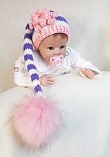 Detské čiapky - Fialovo-ružová čiapočka - 9365695_