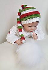 Detské čiapky - Vianočná čiapočka - 9365834_