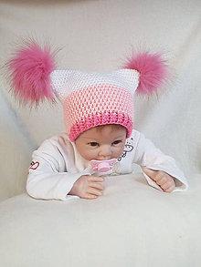Detské čiapky - Čiapočka s brmbolcami - 9365856_