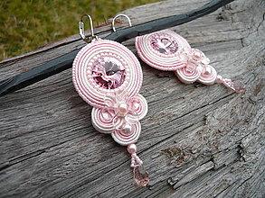 Náušnice - Soutache náušnice Lovely Rose - 9363484_