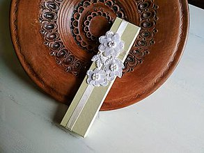 Obalový materiál - Darčeková krabička papierová Ivory...svadobná - 9366140_