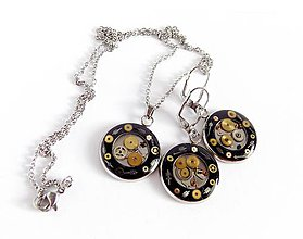 Sady šperkov - Steampunk sada z chirurgické oceli - 9363338_