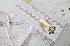 Papiernictvo - Scrapbook obálka na peniaze - fialová - 9364624_