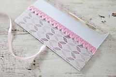Papiernictvo - Scrapbook obálka na peniaze - fialová - 9364625_