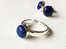 Prstene - univerzálny strieborný prsteň s lapisom lazuli Ag 925, 8 mm - 9363718_