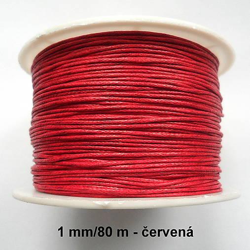 Bavlnená voskovaná šnúrka 1mm-80m