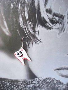 Náušnice - Náušnice - dva zuby navyše - 9364107_