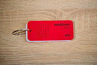 Papiernictvo - Pamäťovky - 50 kariet - červené - 9364120_