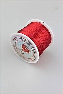 Galantéria - červená gumička 60m,