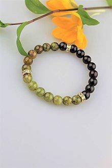 Náramky - granát náramok - trojfarebný, luxusný náramok pre náročného zákazníka - 9364887_