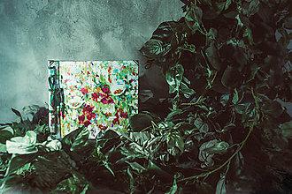 Papiernictvo - Fotoalbum klasický, polyetylénový obal s potlačou ,,Abstraktný kvetinový miš-maš,, - 9364888_