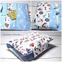 Detské doplnky - Organizér pre bábätká v modrom - 9365587_
