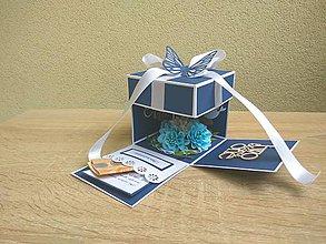 Papiernictvo - Svadobná krabička - Exploding box - 9364027_