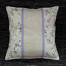 Úžitkový textil - Fialové ťahavé ruže - vankúš(1) 40x40 - 9363348_