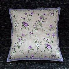 Úžitkový textil - Fialové ťahavé ruže - vankúš(2) 40x40 - 9363356_
