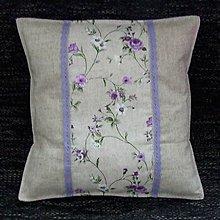 Úžitkový textil - Fialové ťahavé ruže - vankúš(3) 40x40 - 9363363_
