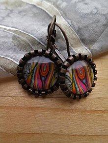 Náušnice - Farebné náušnice s obrázkom  (Pestrofarebná) - 9365526_