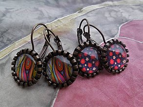 Náušnice - Farebné náušnice s obrázkom - 9365529_
