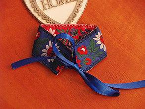 Náramky - Folklórny náramok obojstranný 3,5cm - 9363651_