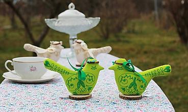 Dekorácie - vtáčí párik na čaji o piatej /rôzne farby / - 9365378_