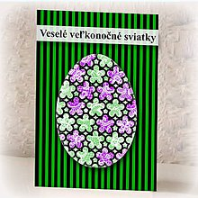 Papiernictvo - Geometrické veľkonočné vajíčko pásiky - 9366165_