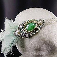 Ozdoby do vlasov - Great Gatsby Mint ... čelenka - 9368013_