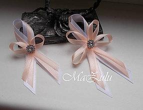 Pierka - svadobné pierka meruňka & biela-veľké - 9366534_