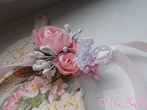 Náramky - Vintage svadobný náramok pre družičky VII. - 9367588_