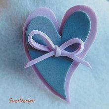 Odznaky/Brošne - brož srcko z lásky - 9366339_