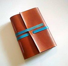 """Papiernictvo - Kožený zápisník * sketchbook ,,Daniel"""" A5 karamelová/bledohnedá - 9366939_"""