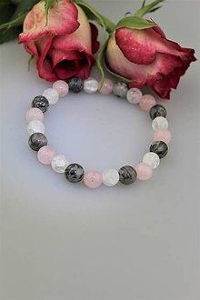 Náramky - ruženín krištál a jaspis náramok pre Ruženku - 9366587_