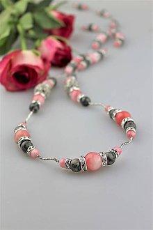 Náhrdelníky - jadeit jaspis náhrdelník luxusný extra dlhý - 9367212_