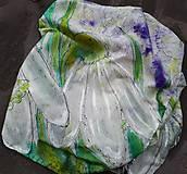 Snežienky- hodvábny maľovaný šál