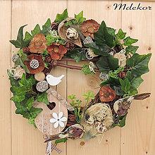 Dekorácie - Veniec na dvere Pozdrav z lesa - 9366786_