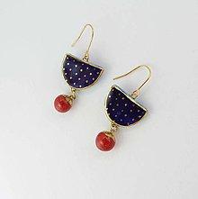 Náušnice - Tana šperky - keramika/zlato - 9366317_
