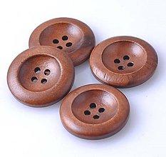 Galantéria - G193 Gombík drevený 2,5 cm - 9368409_
