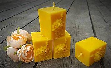Svietidlá a sviečky - Růže v kostce - 9368989_