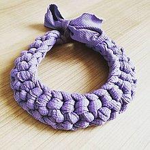 Náhrdelníky - Háčkovaný náhrdelník - 9367396_