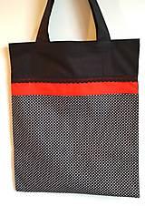 Nákupné tašky - Nákupná taška  čierna- bodky - 9368090_