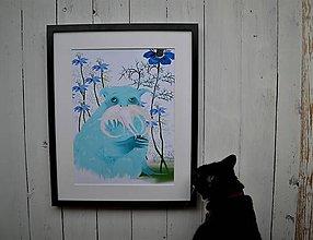 Kresby - Strážca kvetov - 9368476_