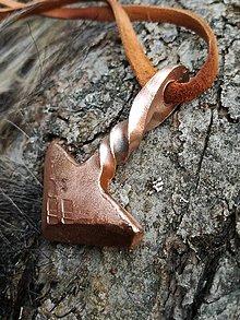Náhrdelníky - Thorovo kladivo, meď - 9367066_