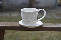 Nádoby - Madeirová porcelánová šálka rovná - 9367089_