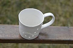 Nádoby - Madeirová porcelánová šálka rovná (Vlnky) - 9367092_