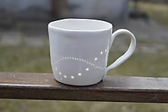 Nádoby - Madeirová porcelánová šálka na čaj (Vlnky) - 9367139_