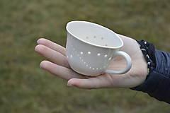 Nádoby - Madeirová porcelánová šálka nižšia Vlnky - 9367195_