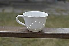 Nádoby - Madeirová porcelánová šálka nižšia Vlnky - 9367196_