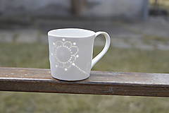 Nádoby - Madeirová porcelánová šálka rovná (Kvietok) - 9367240_