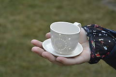 Nádoby - Madeirová espresso šálka Kvietok - 9367290_