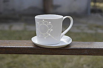 Nádoby - Madeirová porcelánová šálka rovná (Kvietok) - 9367214_